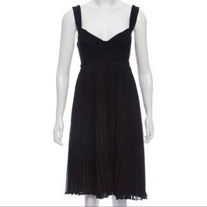Black Kendall Chiffon Pleated Dress